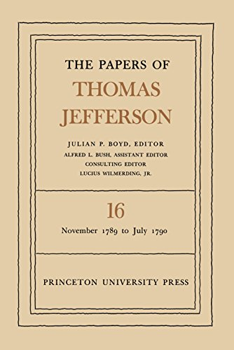 9780691045481: The Papers of Thomas Jefferson, Vol. 16. November 1789 to July 1790