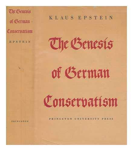 9780691051215: The Genesis of German Conservatism (Princeton Legacy Library) (German Edition)