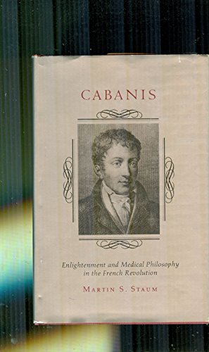 9780691053011: Cabanis: Enlightenment and Medical Philosophy in the French Revolution