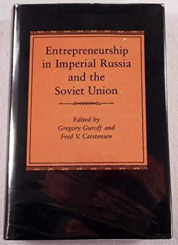 9780691053769: Entrepreneurship in Imperial Russia and the Soviet Union