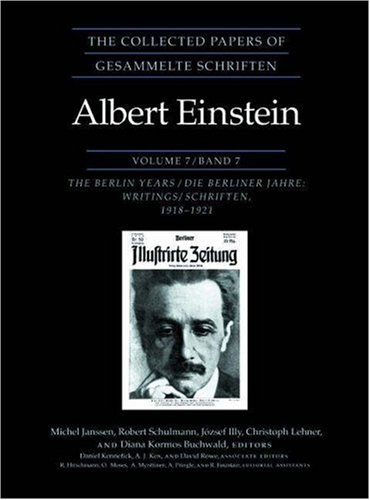 9780691057170: The Collected Papers of Albert Einstein, Volume 7: The Berlin Years: Writings, 1918-1921 (Original texts)