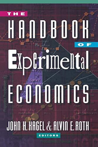 9780691058979: The Handbook of Experimental Economics