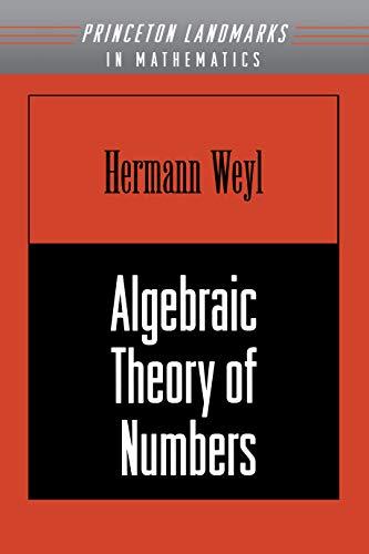 9780691059174: Algebraic Theory of Numbers
