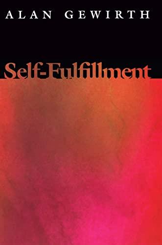 9780691059761: Self-Fulfillment