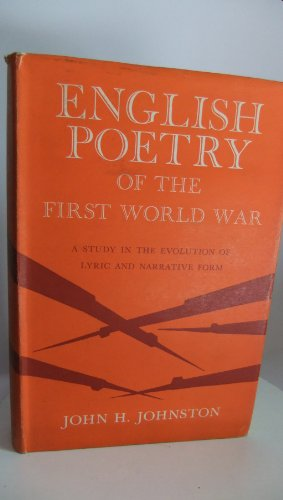 9780691060385: English Poetry of First World War