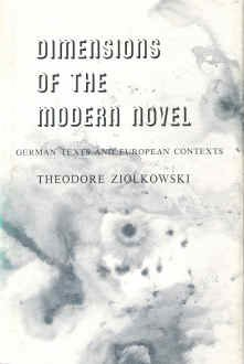 9780691061535: Dimensions of the Modern Novel: German Texts and European Contexts