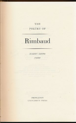9780691062440: The Poetry of Rimbaud (Princeton Legacy Library)