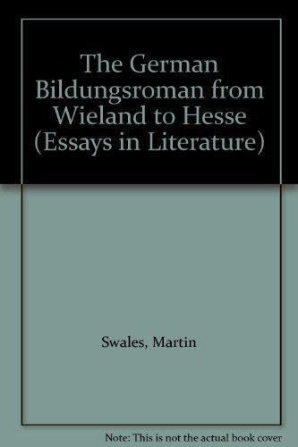 the german bildungsr from wieland to hesse  9780691063591 the german bildungsr from wieland to hesse princeton essays in literature