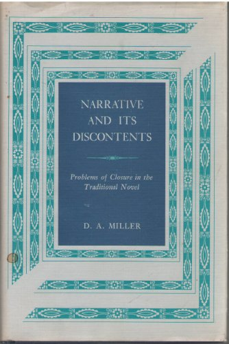9780691064598: Narrative and Its Discontents: Problems of Closure in the Traditional Novel