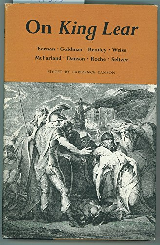 9780691064772: On King Lear: Eight Lectures by Members of the Princeton University English Department