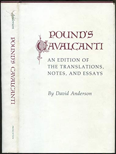 "Pound's ""Cavalcanti"": An Edition of the Translation, Notes, and Essays (Princeton ..."