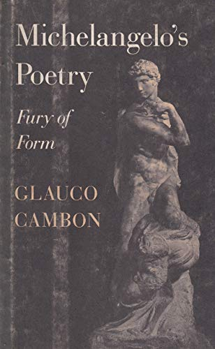 9780691066486: Michelangelo's Poetry: Fury of Form (Princeton Legacy Library)