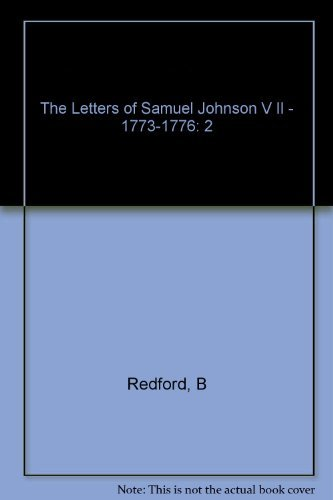 The Letters of Samuel Johnson; Volume II; 1773 - 1776I