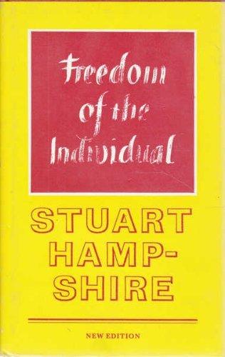 Freedom of the Individual (Princeton Legacy Library): Hampshire, Stuart