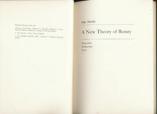 9780691072111: A new theory of beauty (Princeton essays on the arts)