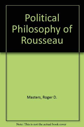 9780691075150: Political Philosophy of Rousseau