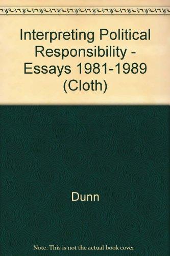 9780691078724: Interpreting Political Responsibility (Princeton Legacy Library)