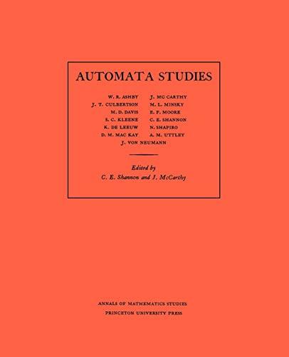 Automata Studies. (AM-34) (Annals of Mathematics Studies)