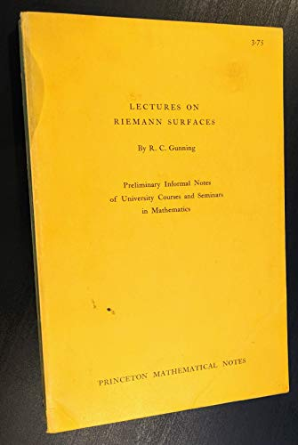 9780691079974: Lectures on Riemann Surfaces