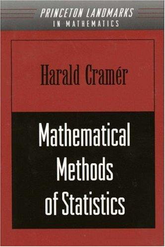 9780691080048: Mathematical Methods of Statistics (PMS-9) (Princeton Mathematical Series)