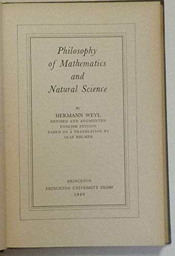 9780691080147: Philosophy of Mathematics and Natural Science