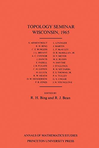 Topology Seminar Wisconsin, 1965. (AM-60) (Paperback)
