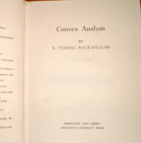 9780691080697: Convex Analysis