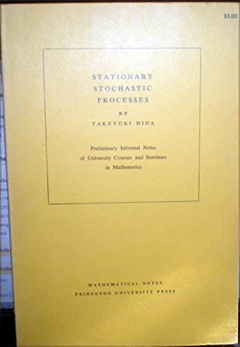 Stationary Stochastic Processes.: Hida, Takeyuki