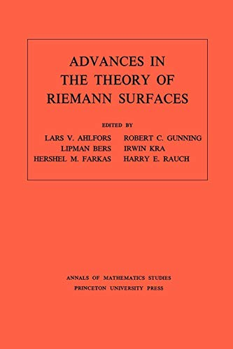 Advances in the Theory of Riemann Surfaces.: Ahlfors, Lars Valerian,