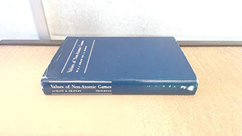 9780691081038: Values of Non-Atomic Games (Princeton Legacy Library)