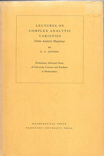 Lectures on Complex Analytic Varieties : Finite Analytic Mappings