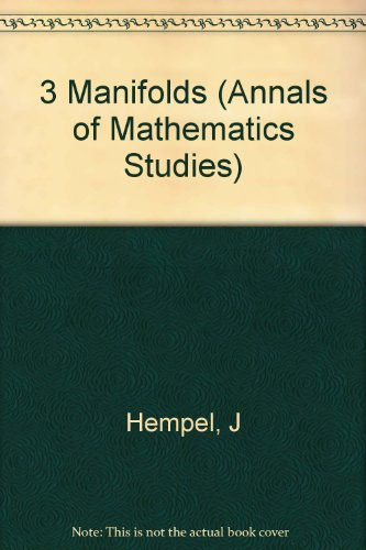 9780691081786: 3 Manifolds. (AM-86) (Annals of Mathematics Studies)