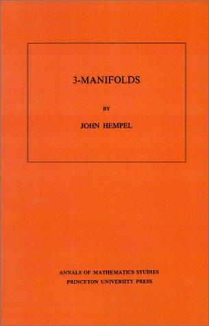 9780691081830: 3 Manifolds. (AM-86) (Annals of Mathematics Studies)