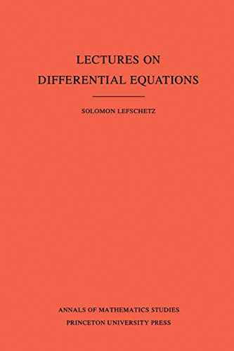 9780691083957: Lectures on Differential Equations. (AM-14), Volume 14 (Annals of Mathematics Studies)