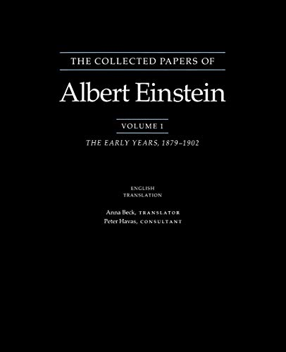 9780691084756: The Collected Papers of Albert Einstein, Volume 1 (English): The Early Years, 1879-1902. (English translation supplement)