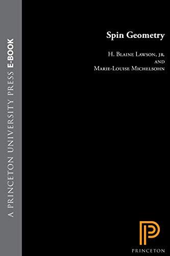 9780691085425: Spin Geometry (PMS-38) (Princeton Mathematical Series)