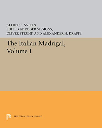 9780691091129: The Italian Madrigal (3 Volumes Set)