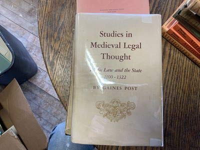 9780691092089: Studies in Medieval Legal Thought: Public Law and the State 1100-1322 (Princeton Legacy Library)
