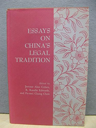 9780691092386: Essays on China's Legal Tradition (Studies in East Asian Law)