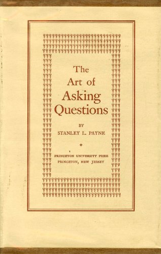 9780691093048: The Art of Asking Questions