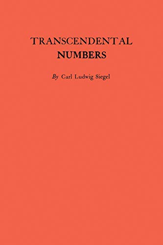 9780691095752: Transcendental Numbers. (AM-16) (Annals of Mathematics Studies)