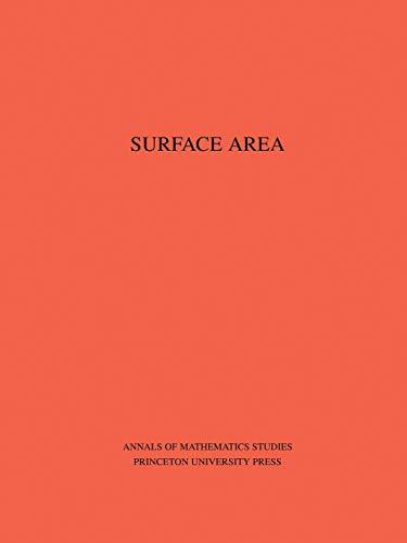 9780691095851: Surface Area. (AM-35), Volume 35 (Annals of Mathematics Studies)