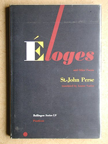 Eloges and Other Poems (Works by St.-John Perse): Perse, Saint-John
