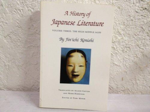 A History of Japanese Literature Vol. III: Jin'ichi Konishi