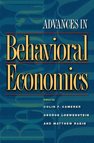 9780691116822: Advances in Behavioral Economics (The Roundtable Series in Behavioral Economics)