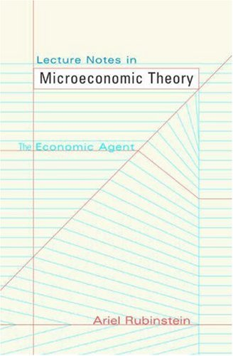 9780691120300: Lecture Notes in Microeconomic Theory: The Economic Agent