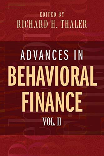 9780691121758: Advances in Behavioral Finance, Volume II (The Roundtable Series in Behavioral Economics)