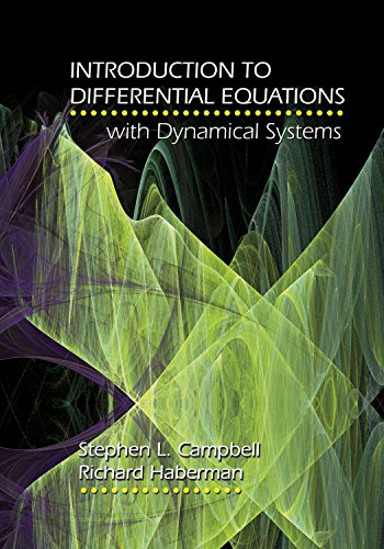 9780691124742: Introduction to Differential Equations with Dynamical Systems