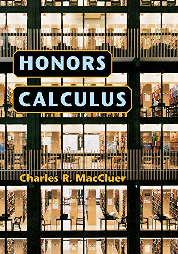 9780691125336: Honors Calculus