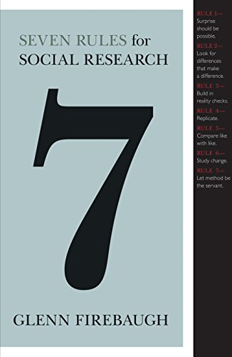 9780691125466: Seven Rules for Social Research